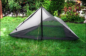 Netting walls zippered door and partial floor offer excellent ventilation and maximum flexibility. Beak rolls up. & Tarptent Squall Ultralight Shelter