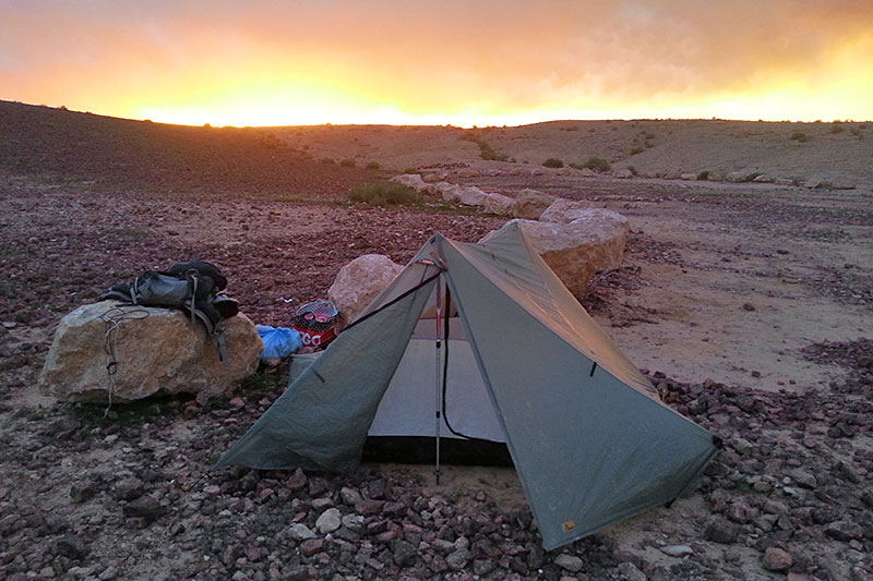 ... on the Israel trail. & Tarptent Tentimonials