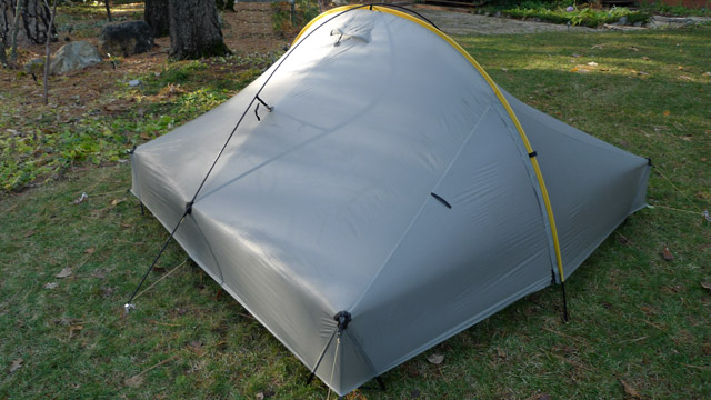 Optional crossing pole provides strength and stability for moderate snow and high winds. & Tarptent Hogback
