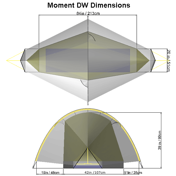 Show Dimensions ...  sc 1 st  Tarptent & Tarptent Moment DW