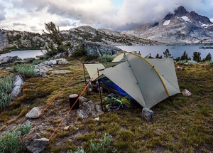 Double Rainbow at Thousand Island Lake on the JMT, CA | Drew Robinson