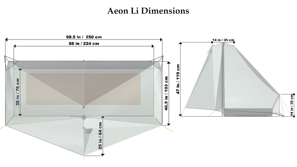 The Aeon Li is our lightest shelter. Single wall single pole and made with Dyneema® it packs to 14 in (36 cm) and is perfect for any minimalist adventure ...  sc 1 st  Tarptent & Aeon Li - Tarptent